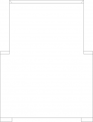 900mm Height Rattan with 50mm Thick Soft Cotton Rear Elevation dwg Drawing