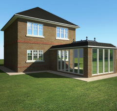 House extension vray 3d max model
