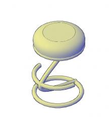 Cantilever bar stool AutoCAD 3D model