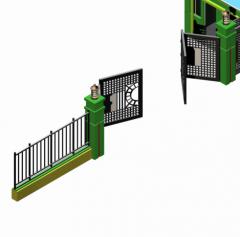 Security gates 3d max block
