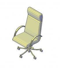 Hohe Rücken Manager Stuhl 3D-AutoCAD-Modell