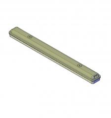 3D AutoCAD Fluorescent ceiling light model
