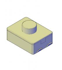 マイクロスイッチ3D AutoCADブロック