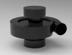Autodesk Inventor 3D CAD Model of Fan Blower Body