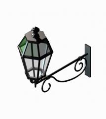 Iron outdoor wall light 3ds max block