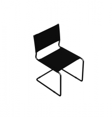 Cantilever office chair 3D Max block