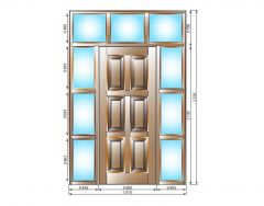 Entrance doors with glazed surround dwg