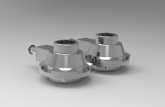 Autodesk Inventor 3D CAD Model of First Stage Valve for different types of hydraulic Actuators, M16x28MM