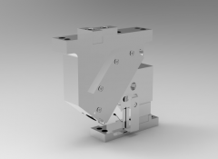 Solid-works 3D CAD Model of Naams Aerial Cam, Work Angle=0, Adapt Angle=50, Work Travel=19.3  H=160
