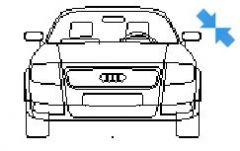 Audio TT in elevation view dwg model