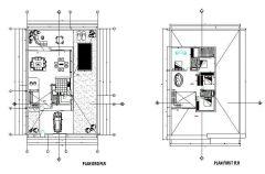 Design minimalista della casa dwg