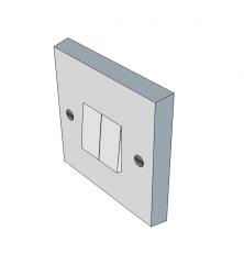 Interruptor de luz doble Modelo Sketchup
