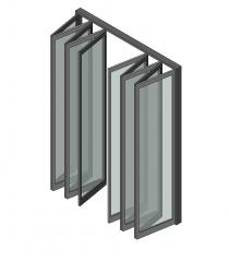 10 Panel bifold doors Revit model