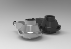 Autodesk Inventor 3D CAD Model of First Stage Valve for different types of hydraulic Actuators, M20x45MM