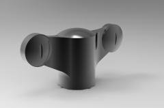 Solid-works 3D CAD Model of Knob, A=38,  D=M5