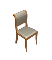Scroll top dining chair  3D Max block