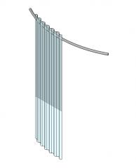 Curved shower curtain Revit model