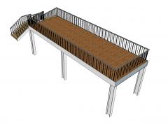 Mezzanine floor Sketchup model