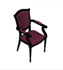 Victorian style chair 3D Max block
