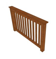 Decking handrail Skecthup model