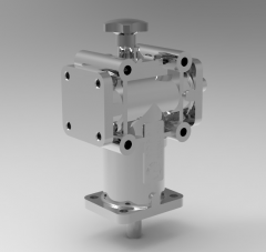 Autodesk Inventor 3D CAD Model of 2-ways gearbox for Reversing purpose,  Size 2, Ratio 1:1, RPM 1400