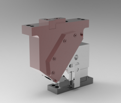 Solid-works 3D CAD Model of Naams Aerial Cam, Work Angle=10, Adapt Angle=40, Work Travel=23.3  H=160