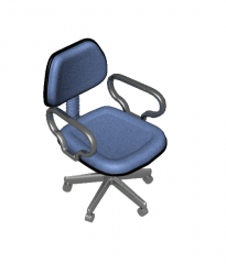 3d max model Office chair with arms