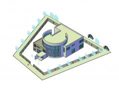 Art Center AutoCAD 3D-Modell
