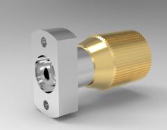 Autodesk Inventor ipt file 3D CAD Model of Control knobs with spindle, d1=27d2=M6d3=M12x1d4=6.4 d5=18d6=4.3