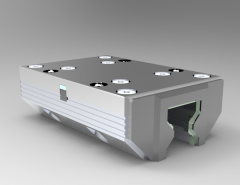 Solid-works 3D CAD Model of cassette Accessories with threaded joint, A=35L=100H=135E1=48E2=62DD=82