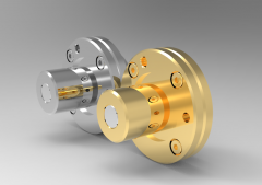 Solid-works 3D CAD Model of Ball Spline with rotary nut, ØD1=53mmØD2=62L(mm)=71P1=45mm  S=M 6
