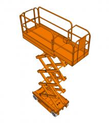 Scissor lift Sketchup model