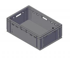 Plastic crate 3D dwg model