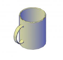 Taza de café 3D dwg modelo