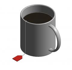 Tazza di tè modello Revit