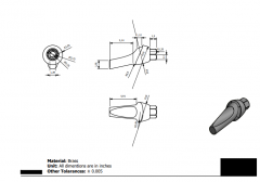 Inventor 2D CAD drawing of a Pin