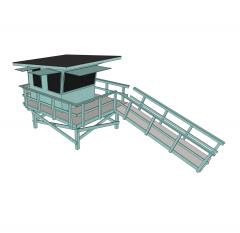 Lifeguard tower Sketchup model
