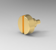 Autodesk Inventor 3D CAD Model of  Slotted pan set screws M3X3