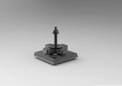 Fusion 360 (step file) 3D CAD Model of Swivel Caster Adjustable Quakeproof Seat for square Table D130Load Range 2.8-6.0(kN)