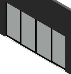 4 panel sliding door Revit family