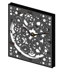 Wall Clock with Gears Revit Family
