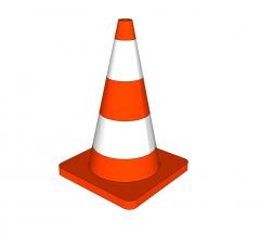 Traffic cone Sketchup model