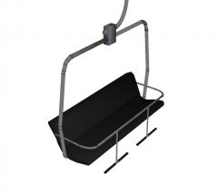Telesilla Sketchup modelo