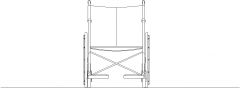 998mm Height Wheel Chair Front Elevation dwg Drawing