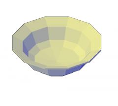 Cereal bowl 3D DWG model