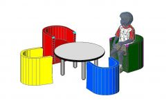 Tabel End Armchair For Baby Revit Family