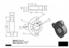 Inventor 2D CAD drawing for practice 9
