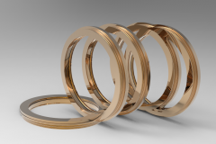 Solid-works 3D CAD Model of Flanged Design Bearing Isolator  29602-0049