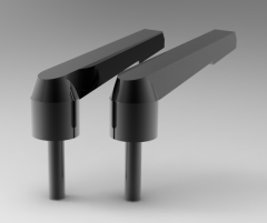 Autodesk Inventor ipt file 3D CAD Model of Lever with threaded screw, A (mm)=80X (mm)=M10T1 (mm)=30D1 (mm)=21.8