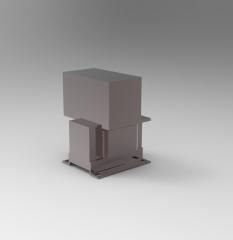 Solid-works 3D CAD Model of Transformer with Rectifier, V=230V   Power=200OV=24 VDC, I=10Efficiency=92 %